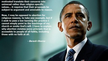 President Obama on Separation of Church and State
